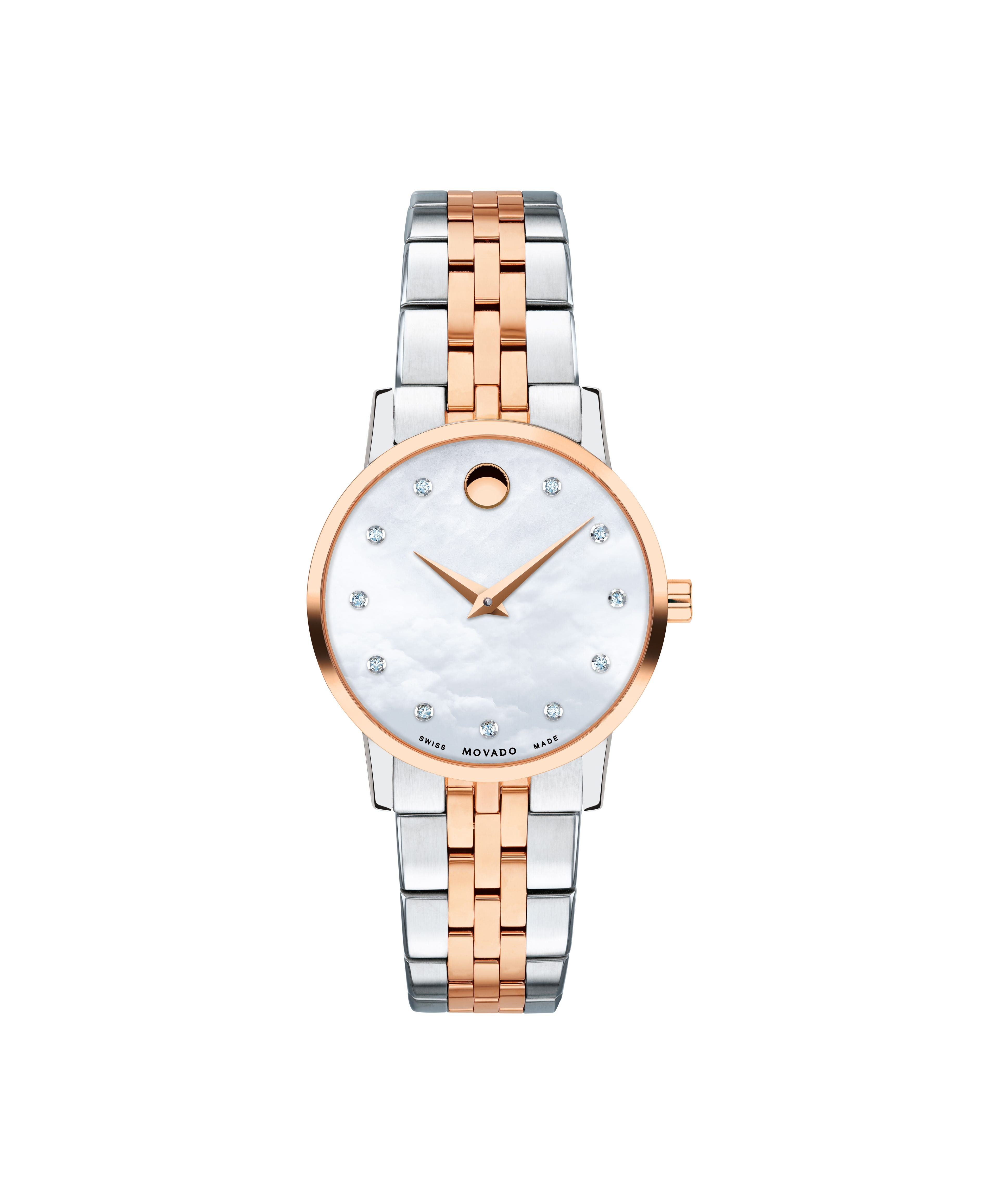 eec9f14df63341 Movado Ladies' Two-Tone Museum Classic Watch 0607209