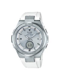G-Shock Ladies' Casio Baby-G G-MS White & Silver-Tone Watch MSGS200-7A