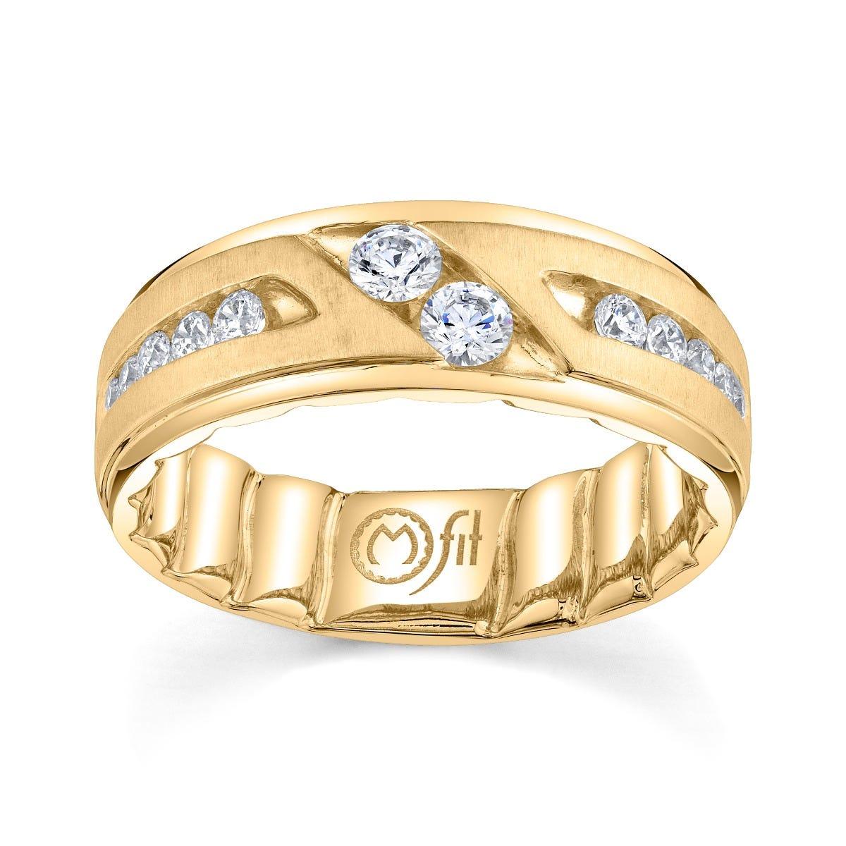 Men's MFIT Diamond Band 5/8ctw in 10k Yellow Gold