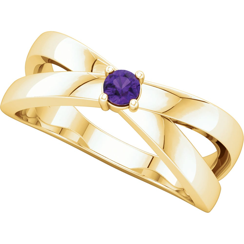 1-Stone Family Ring in 14k Yellow Gold