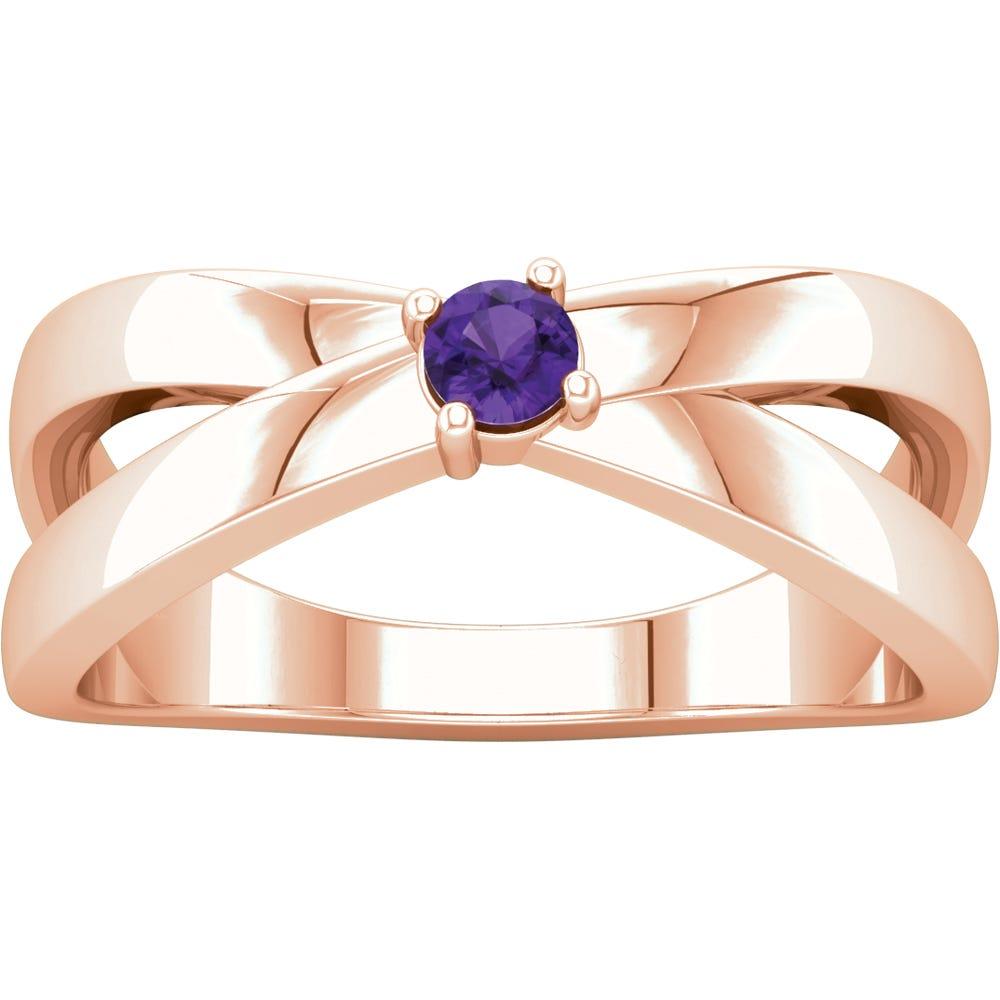 1-Stone Family Ring in 14k Rose Gold