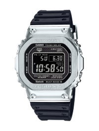 G-Shock Men's Solar-Radio-Bluetooth Stainless Steel Watch with Resin Band GMWB5000-1