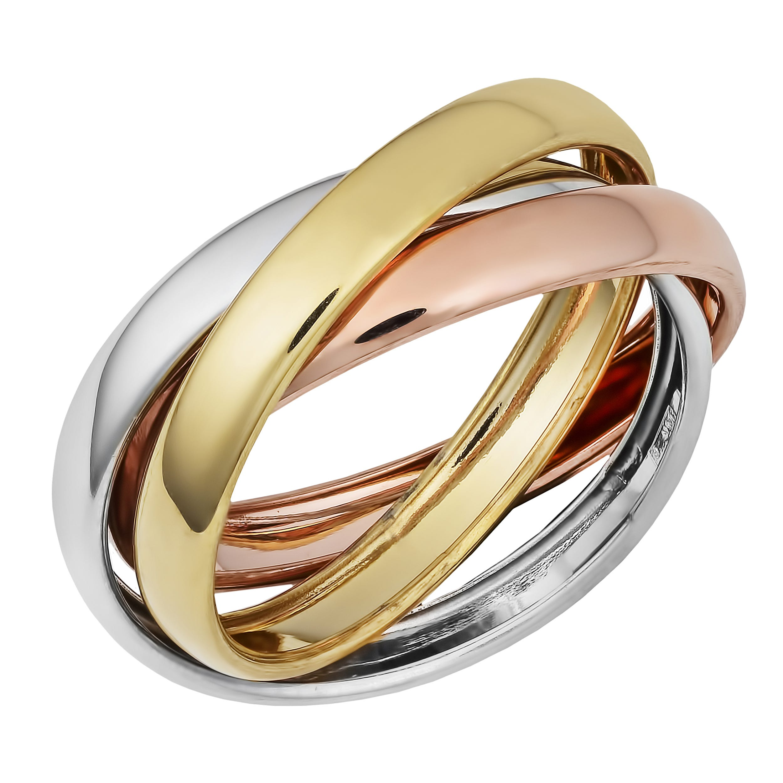 Rolling Ring 2mm in 14k Two-Tone