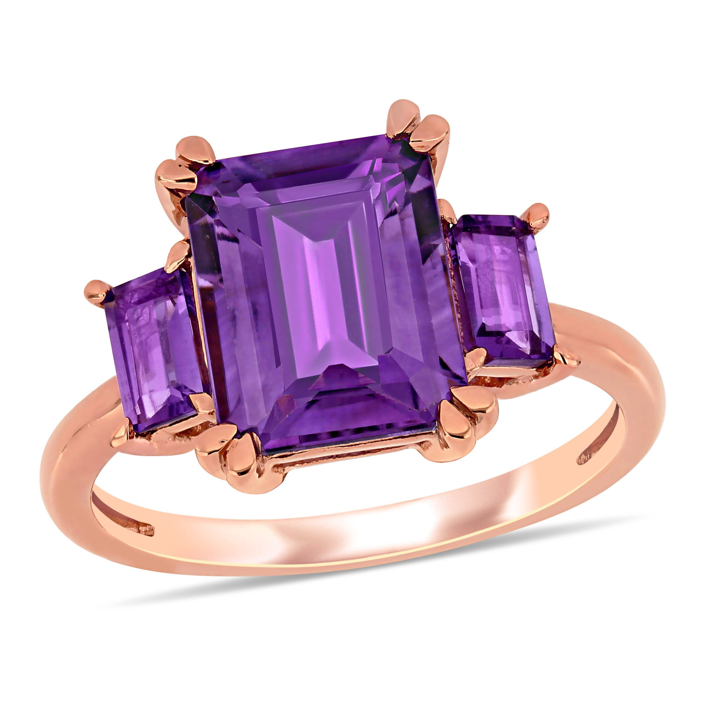 Amethyst Ring in 14k Rose Gold