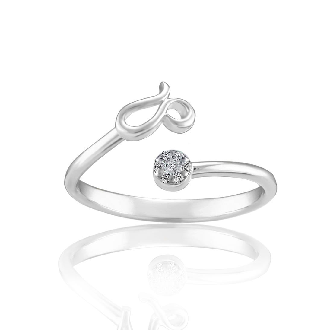 Zodiac Diamond Leo Fashion Ring in Sterling Silver