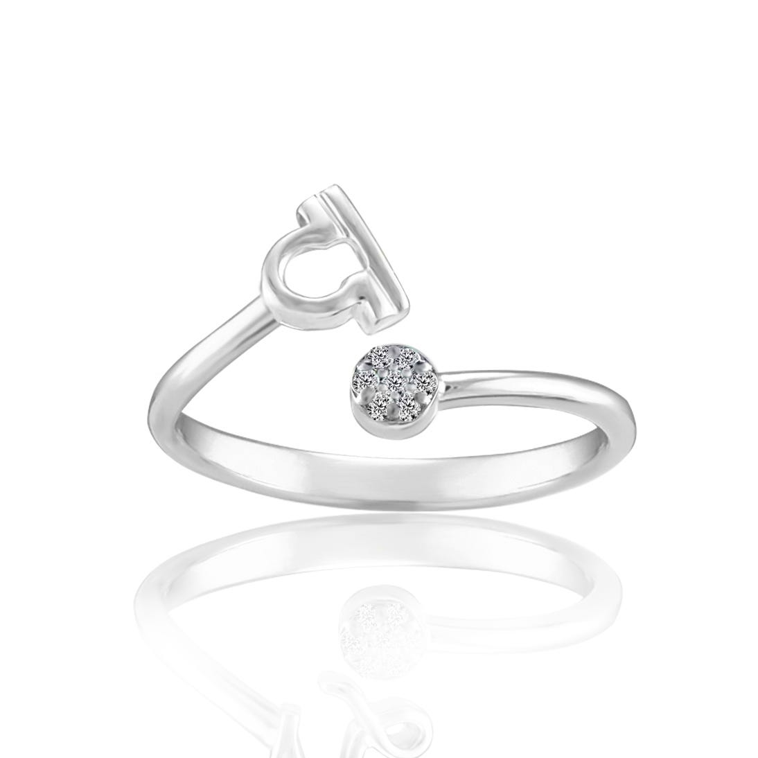 Zodiac Diamond Libra Fashion Ring in Sterling Silver