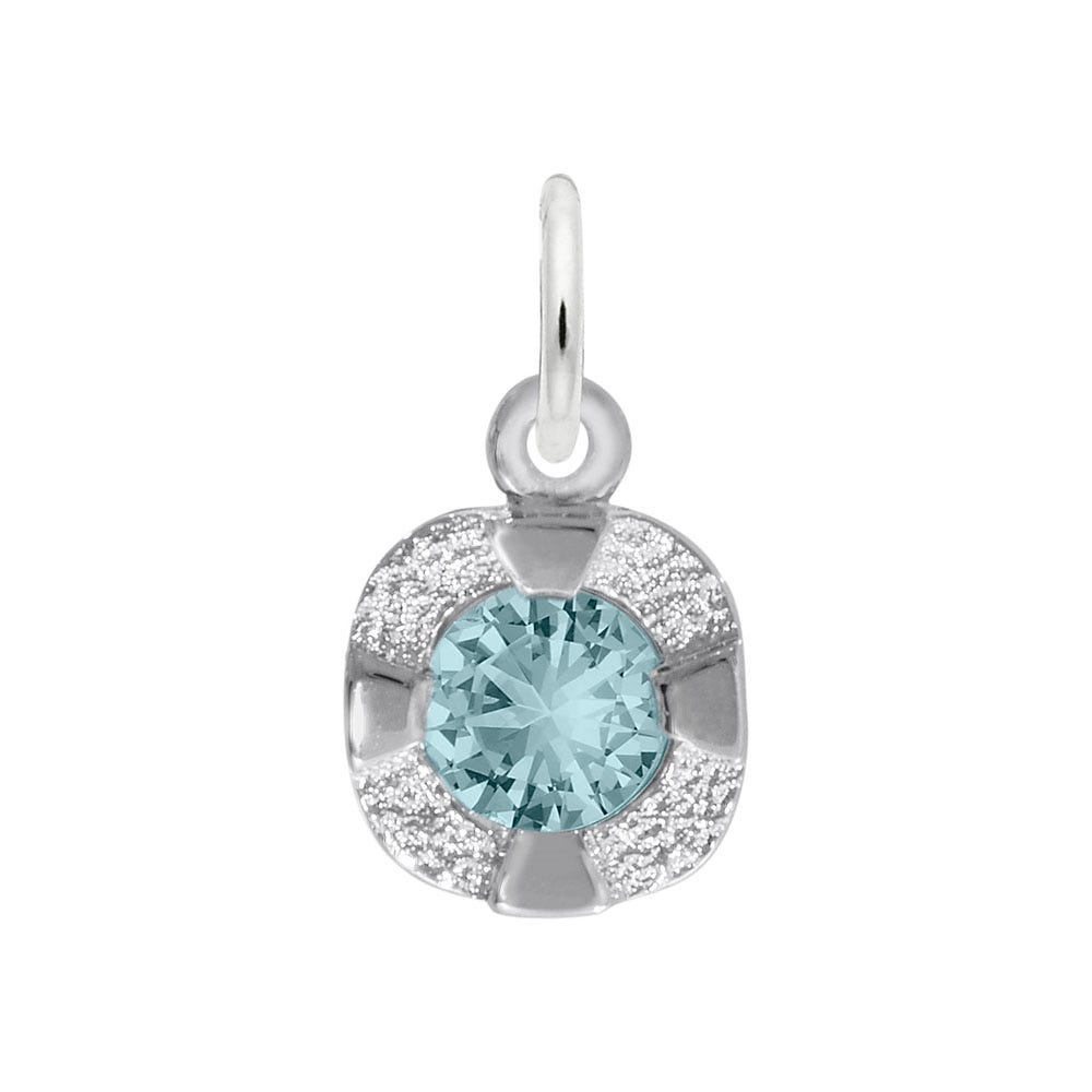 March Birthstone Petite Charm in 14k White Gold