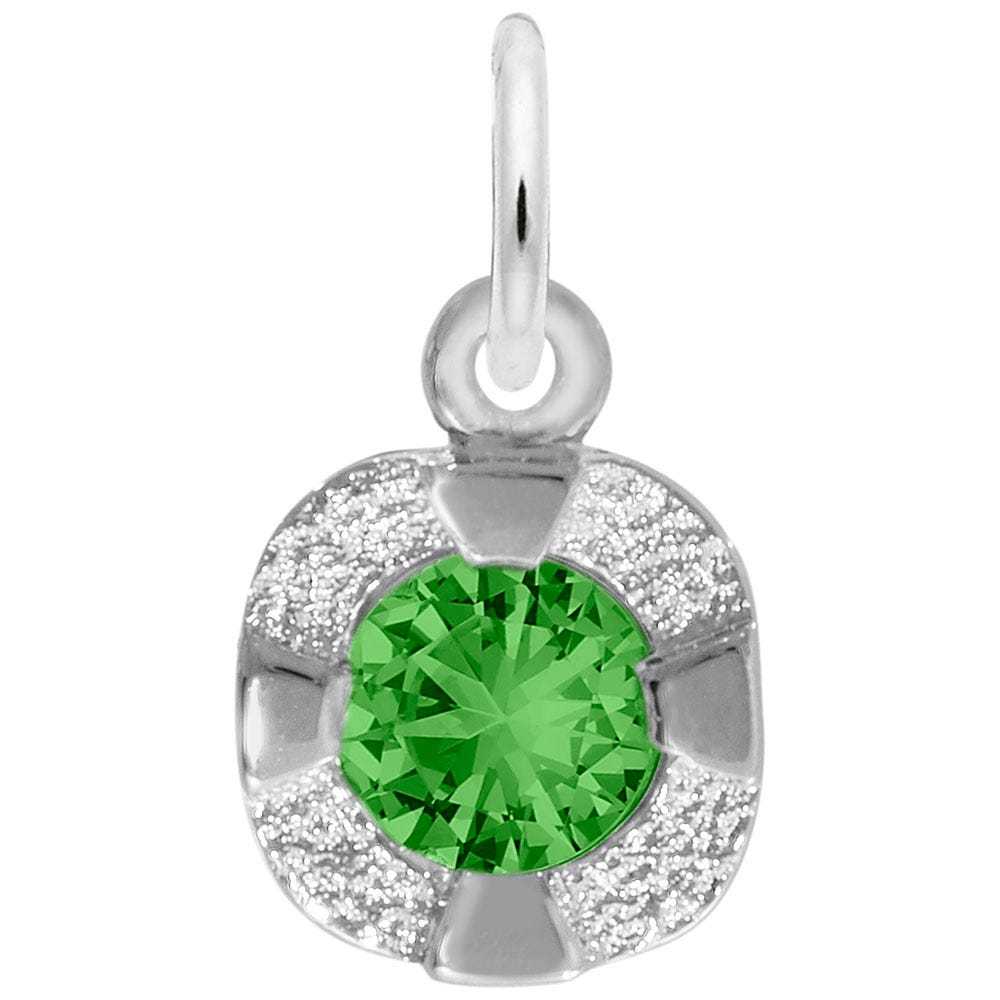 May Birthstone Petite Charm in Sterling Silver