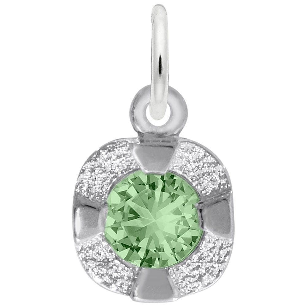 August Birthstone Petite Charm in Sterling Silver