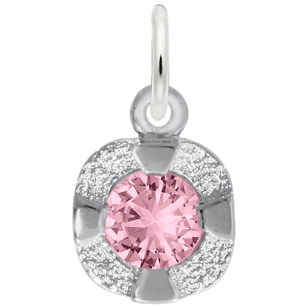 October Birthstone Petite Charm in Sterling Silver