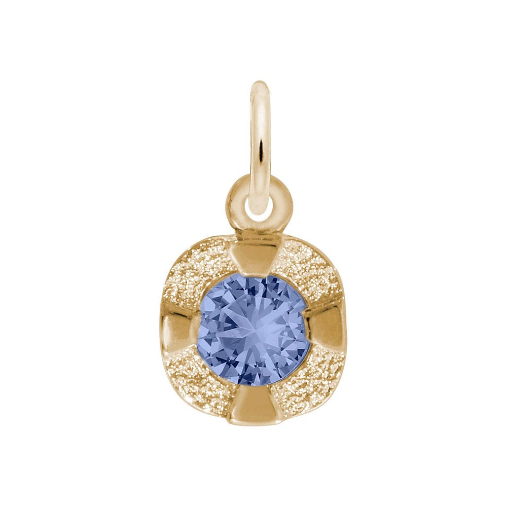 September Birthstone Petite Charm in Sterling Silver/ Gold Plated