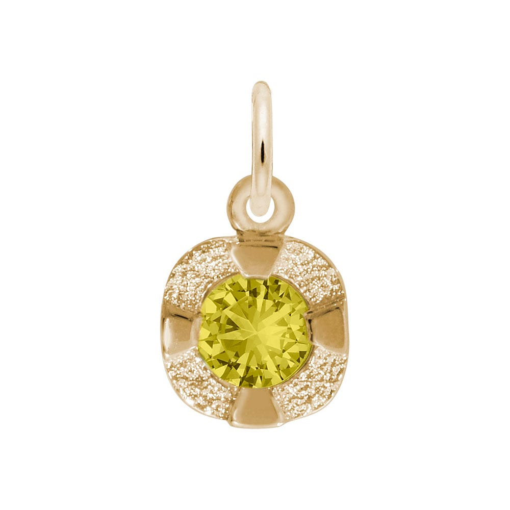 November Birthstone Petite Charm in Sterling Silver/ Gold Plated