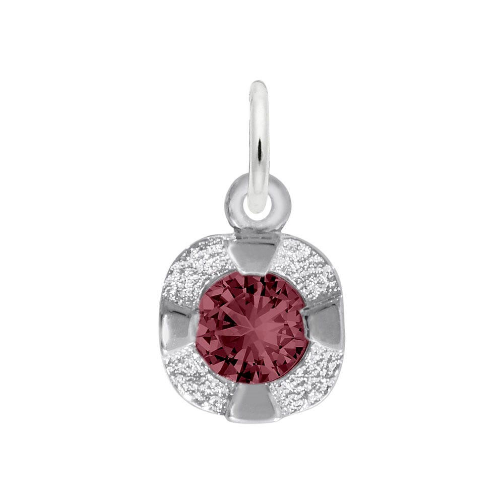 June Birthstone Petite Charm in 14k White Gold