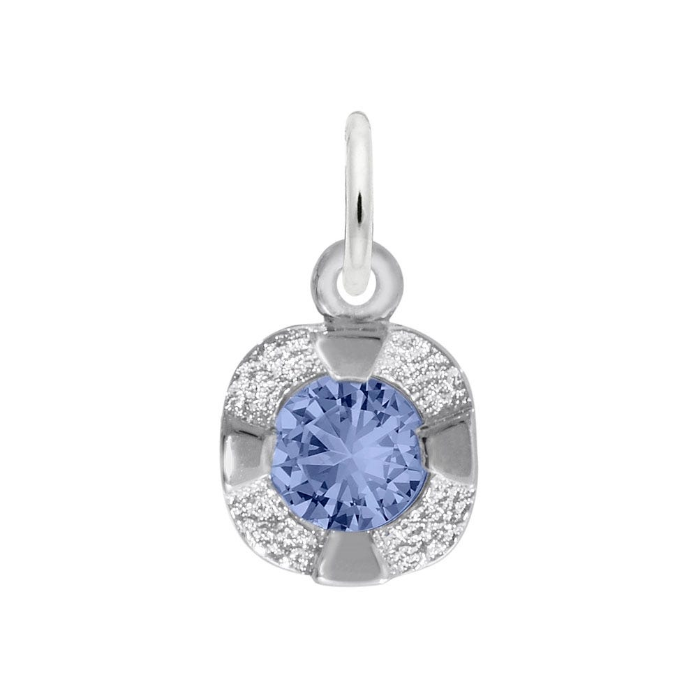 September Birthstone Petite Charm in 14k White Gold
