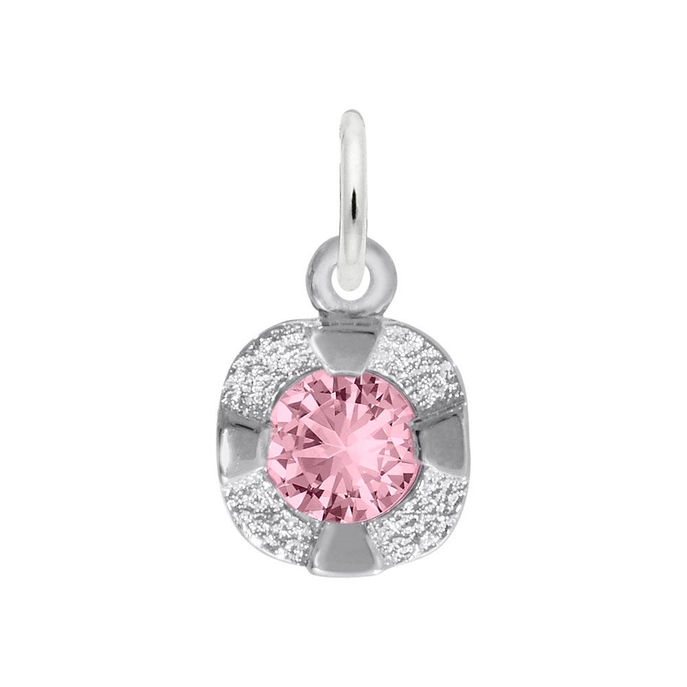 October Birthstone Petite Charm in 14k White Gold