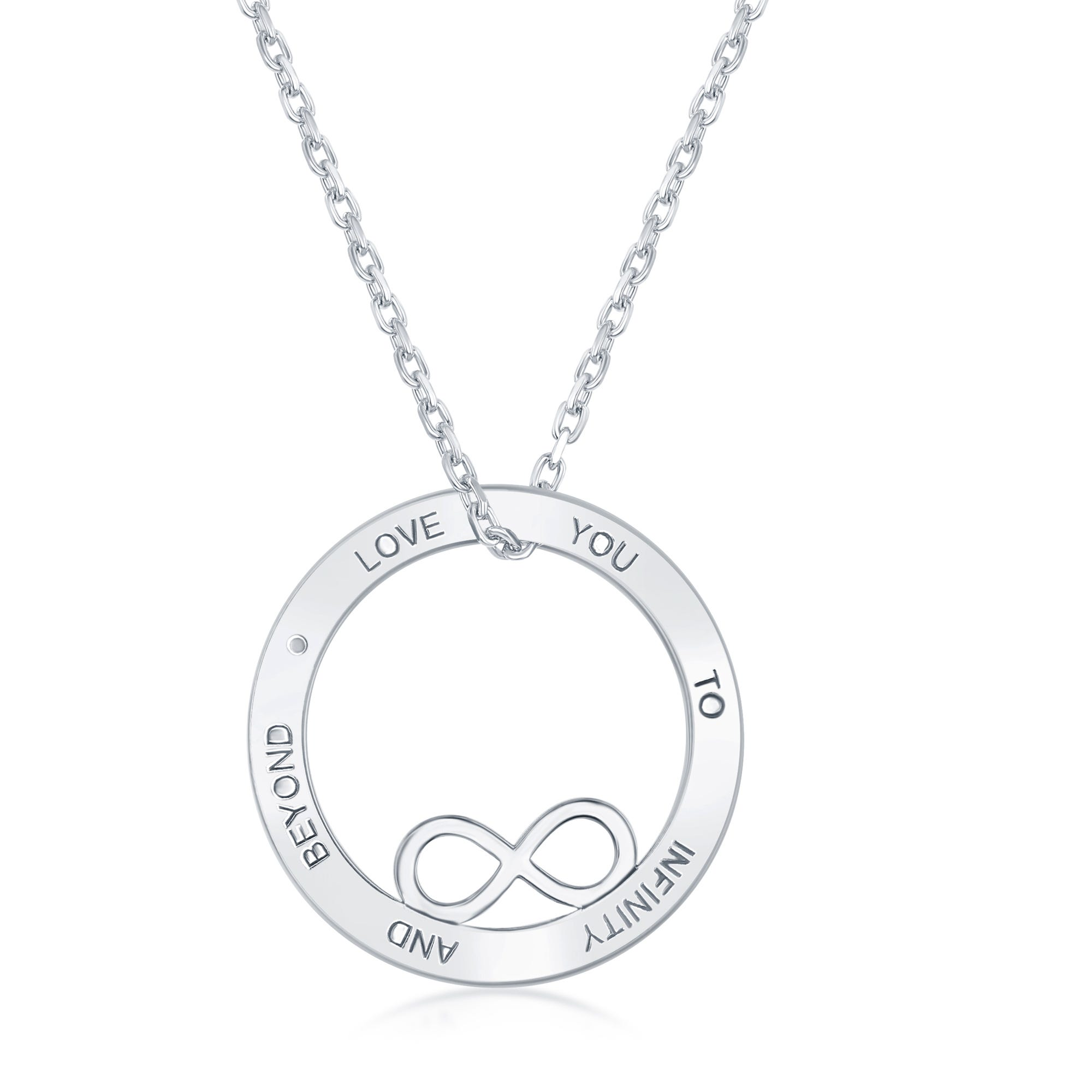Love You to Infinity & Beyond Pendant in Sterling Silver