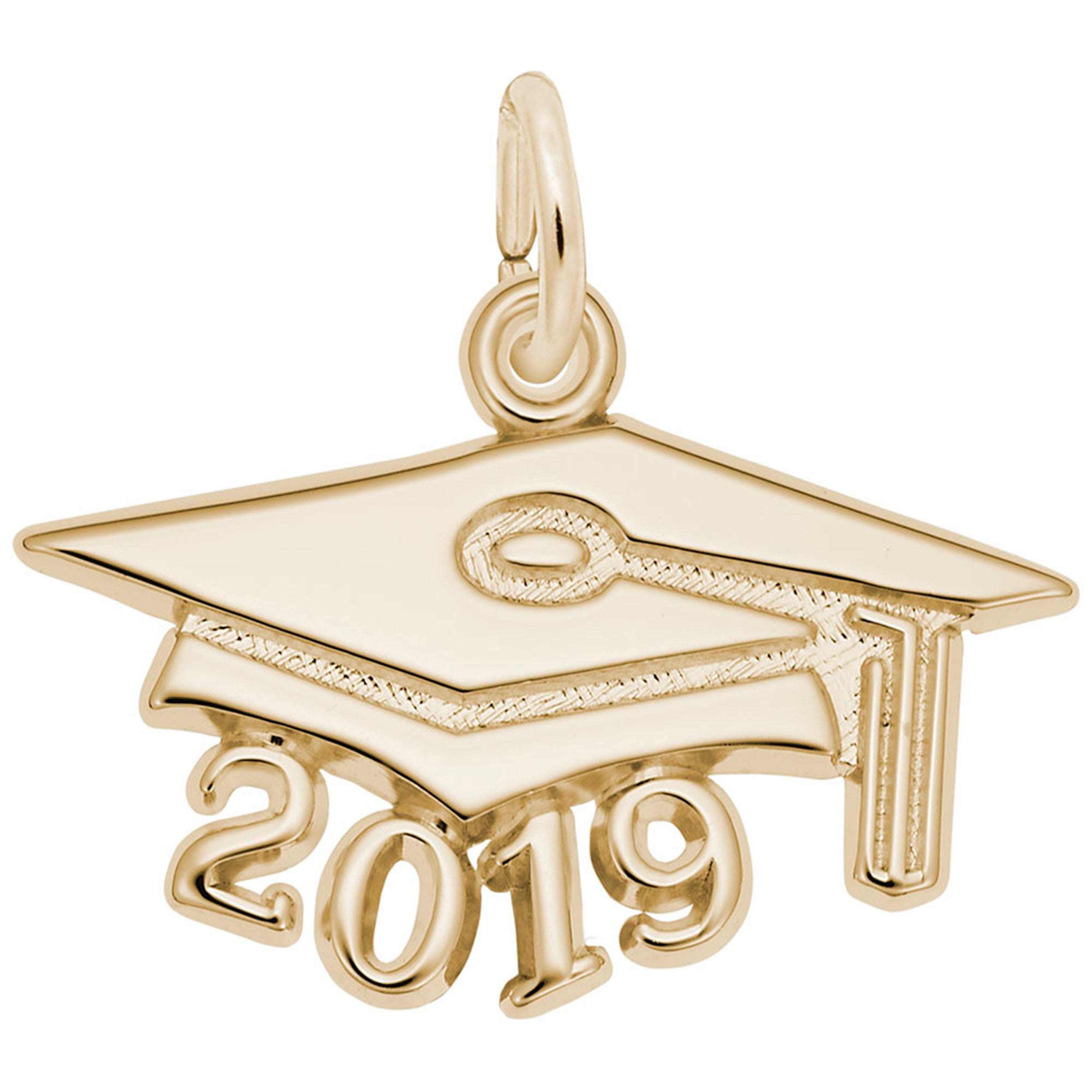 2019 Large Graduation Cap Charm in 14k Yellow Gold