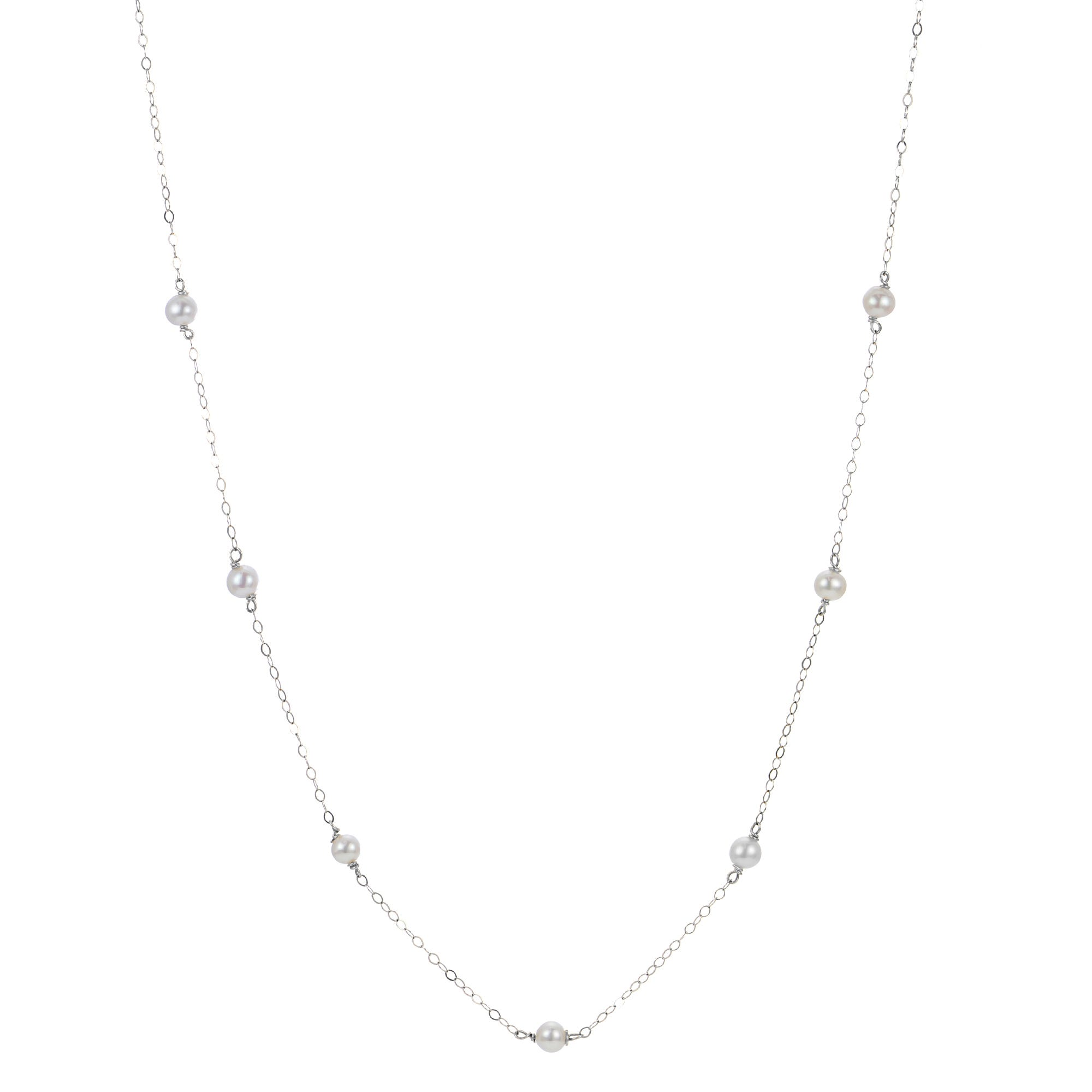 Freshwater Pearl Children's Necklace in Sterling Silver