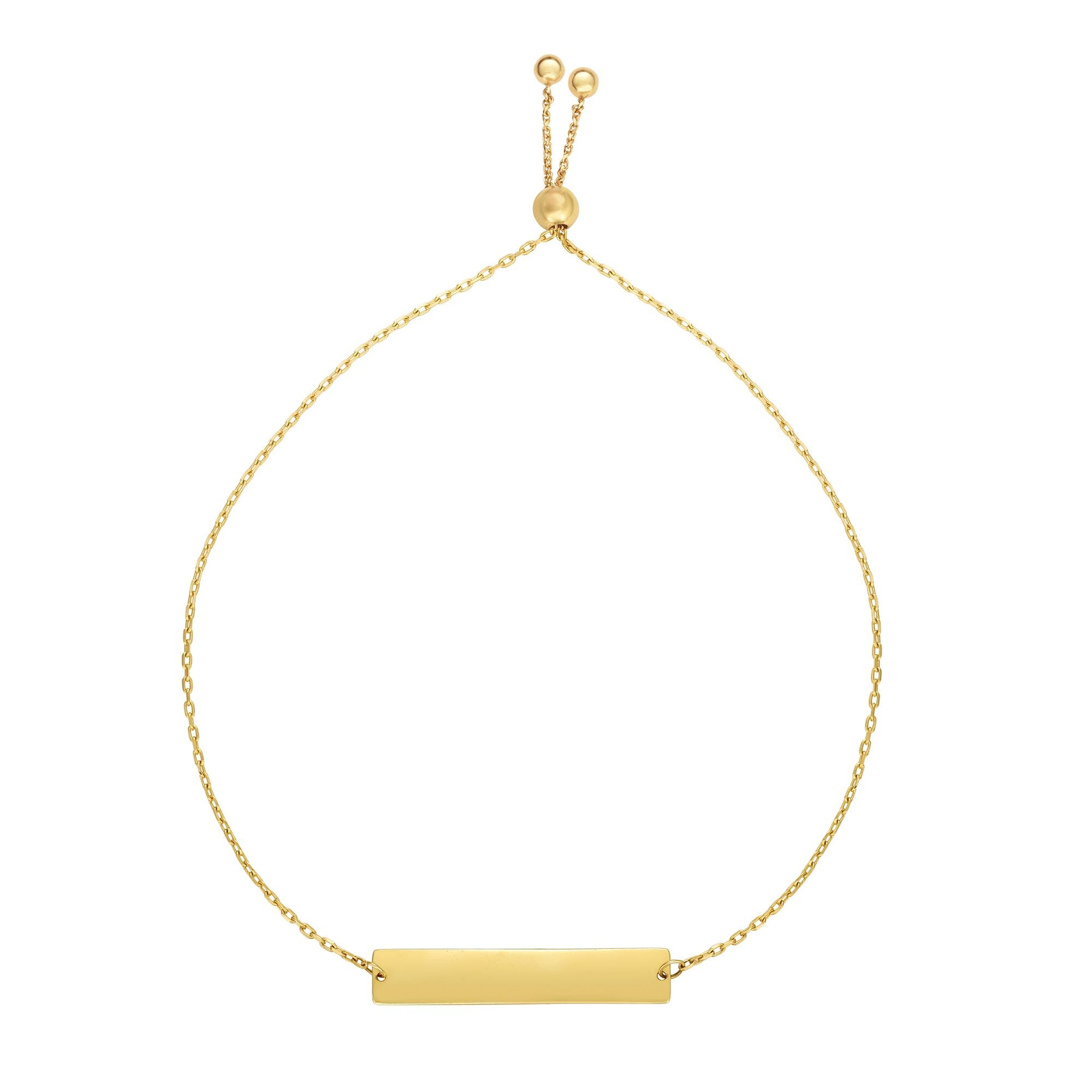 Bar Bracelet in 14k Yellow Gold