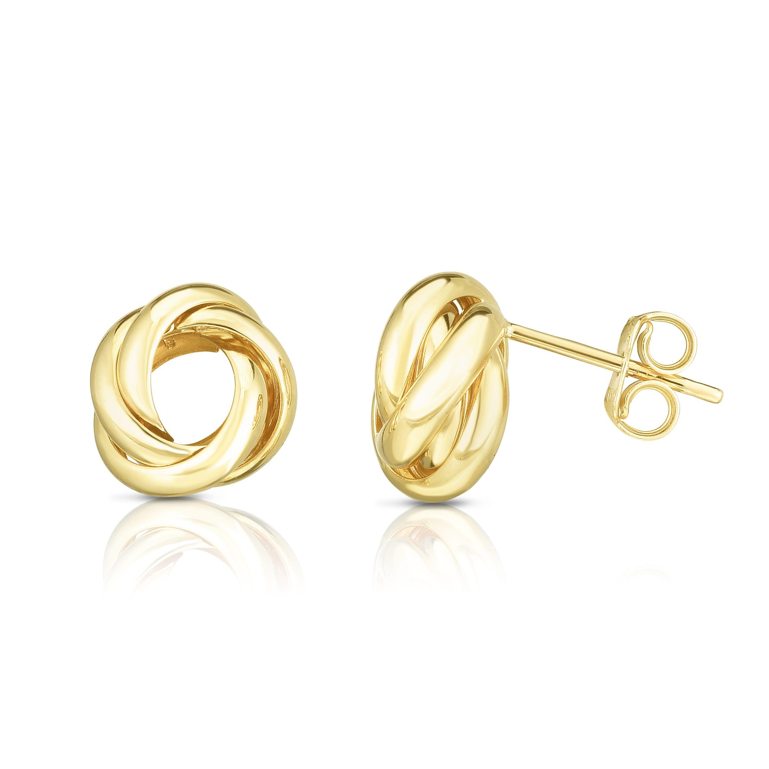 Knot Earrings in 14k Yellow Gold