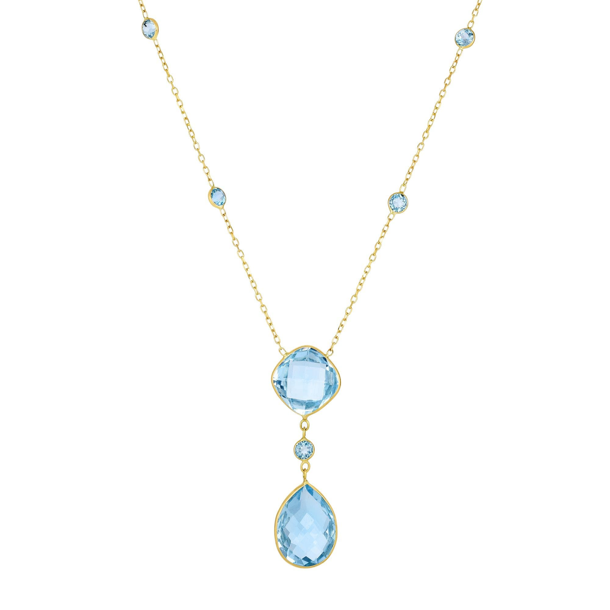 14k blue topaz necklace