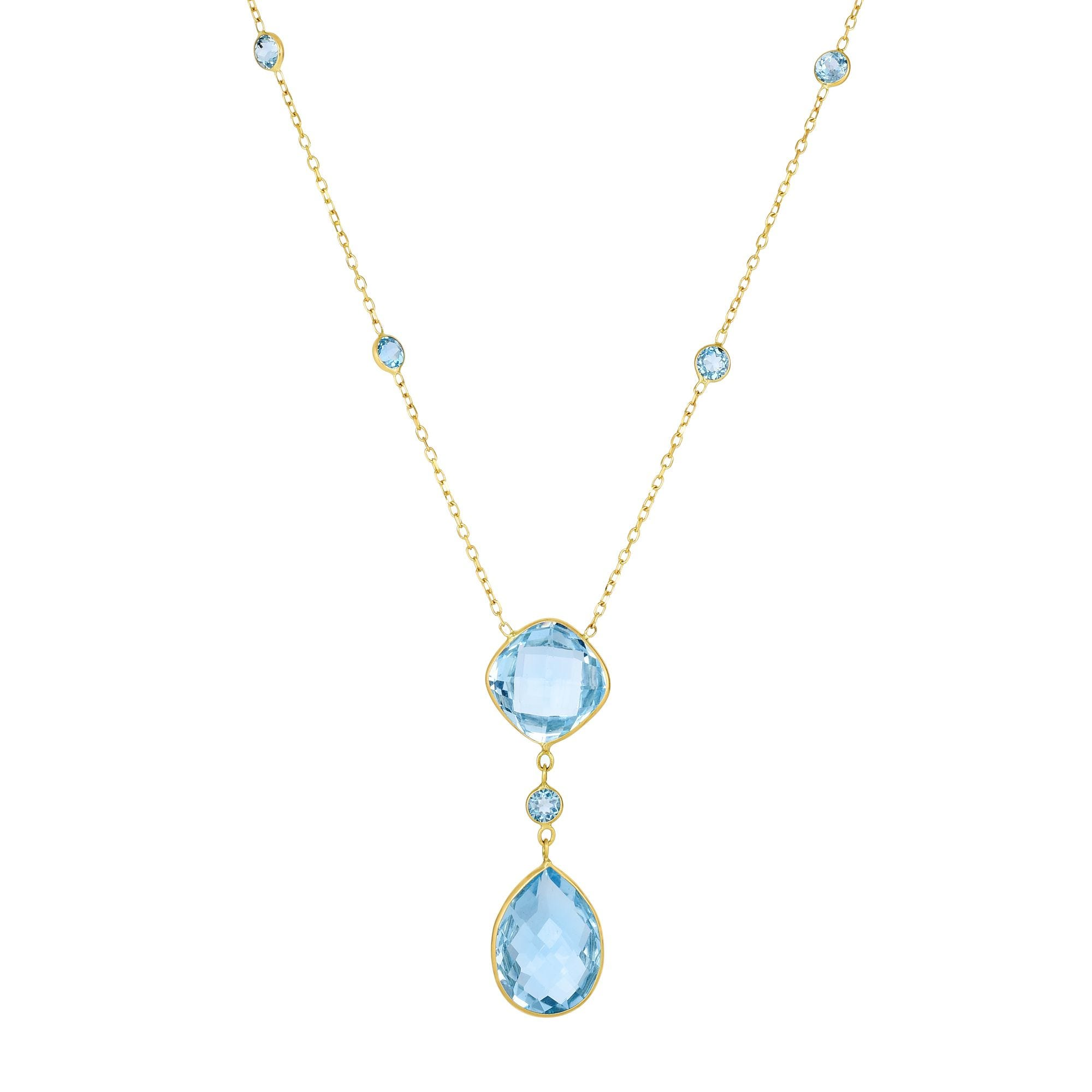 Blue Topaz Necklace 18