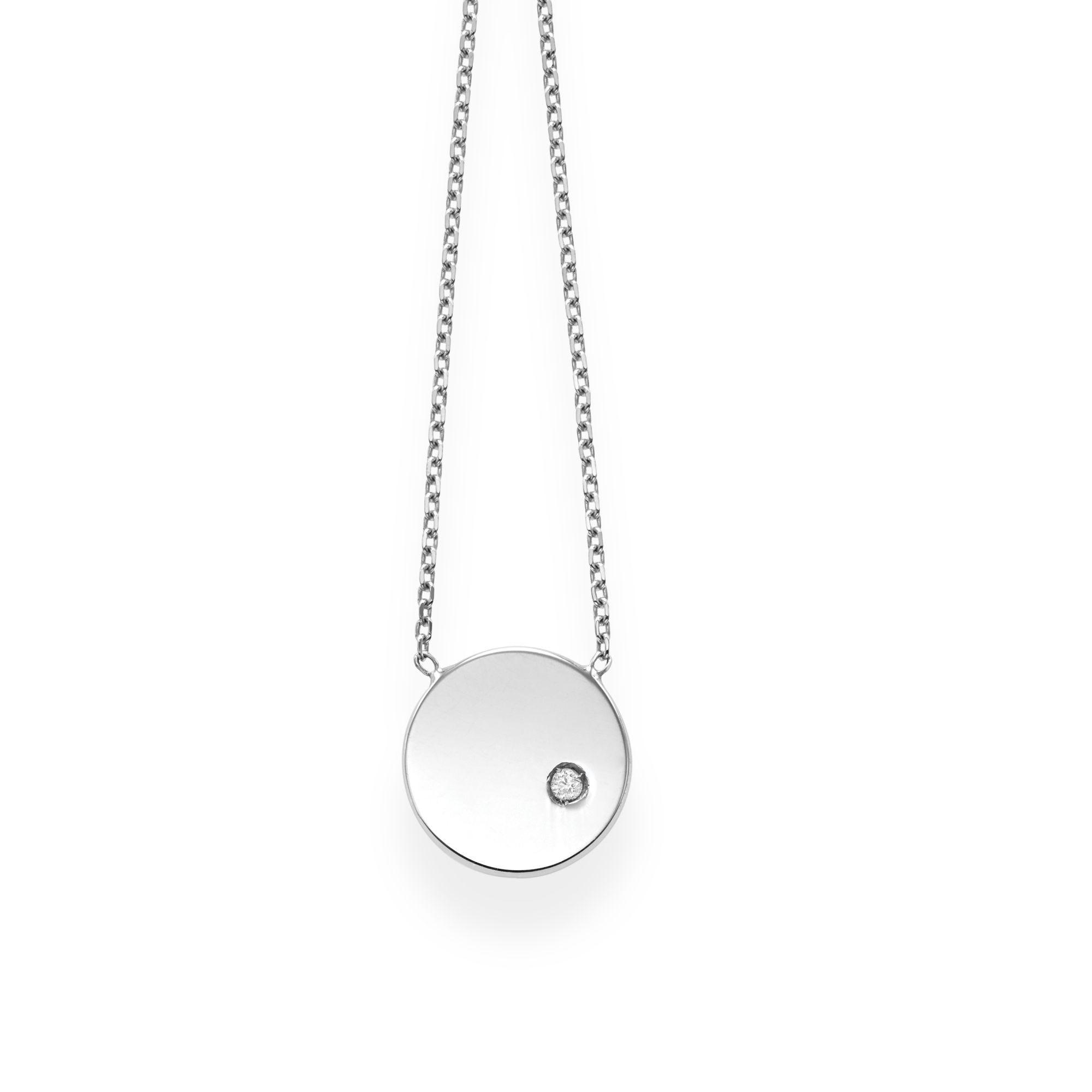 Diamond Circle Pendant 18