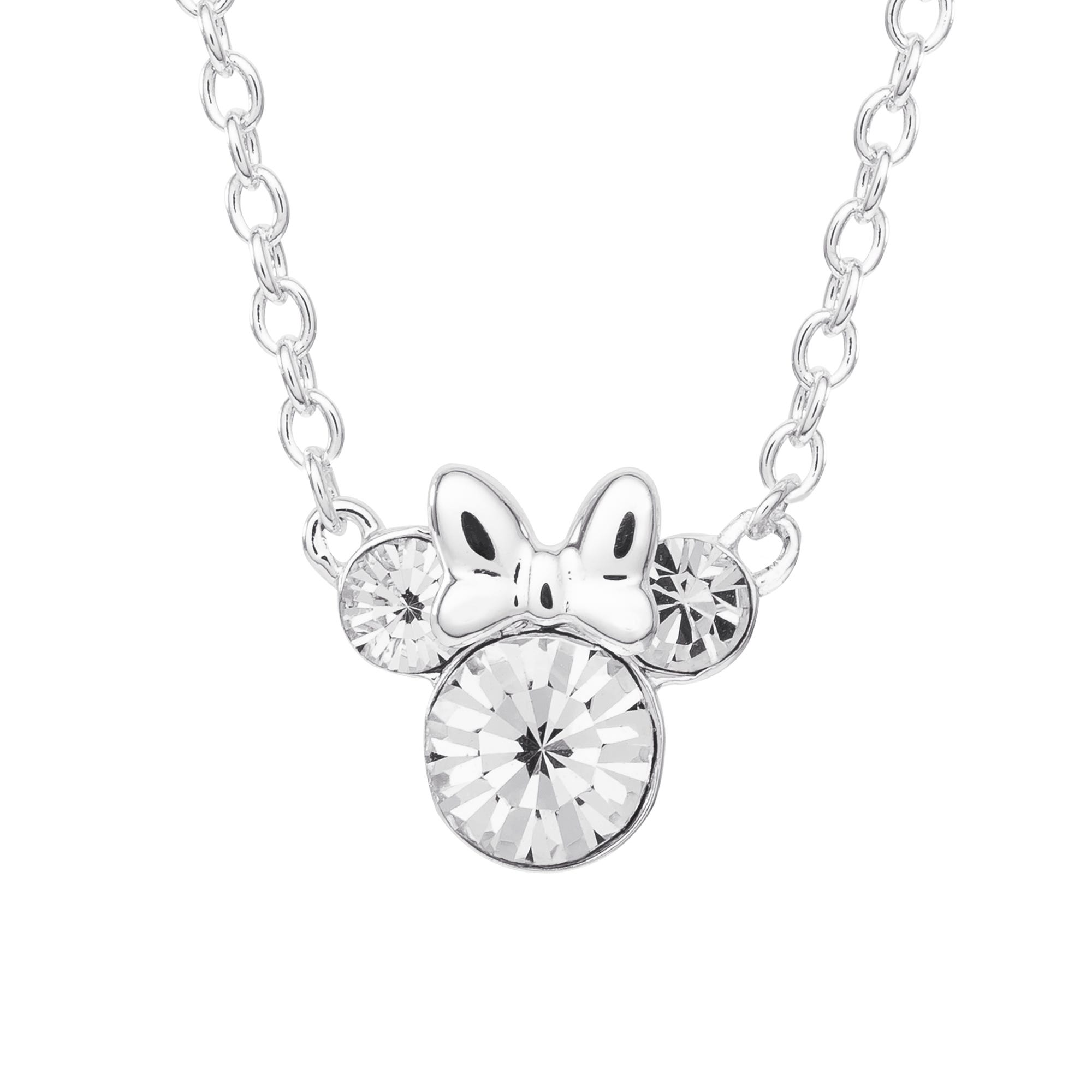 DISNEY© Minnie Mouse Crystal Necklace in Sterling Silver