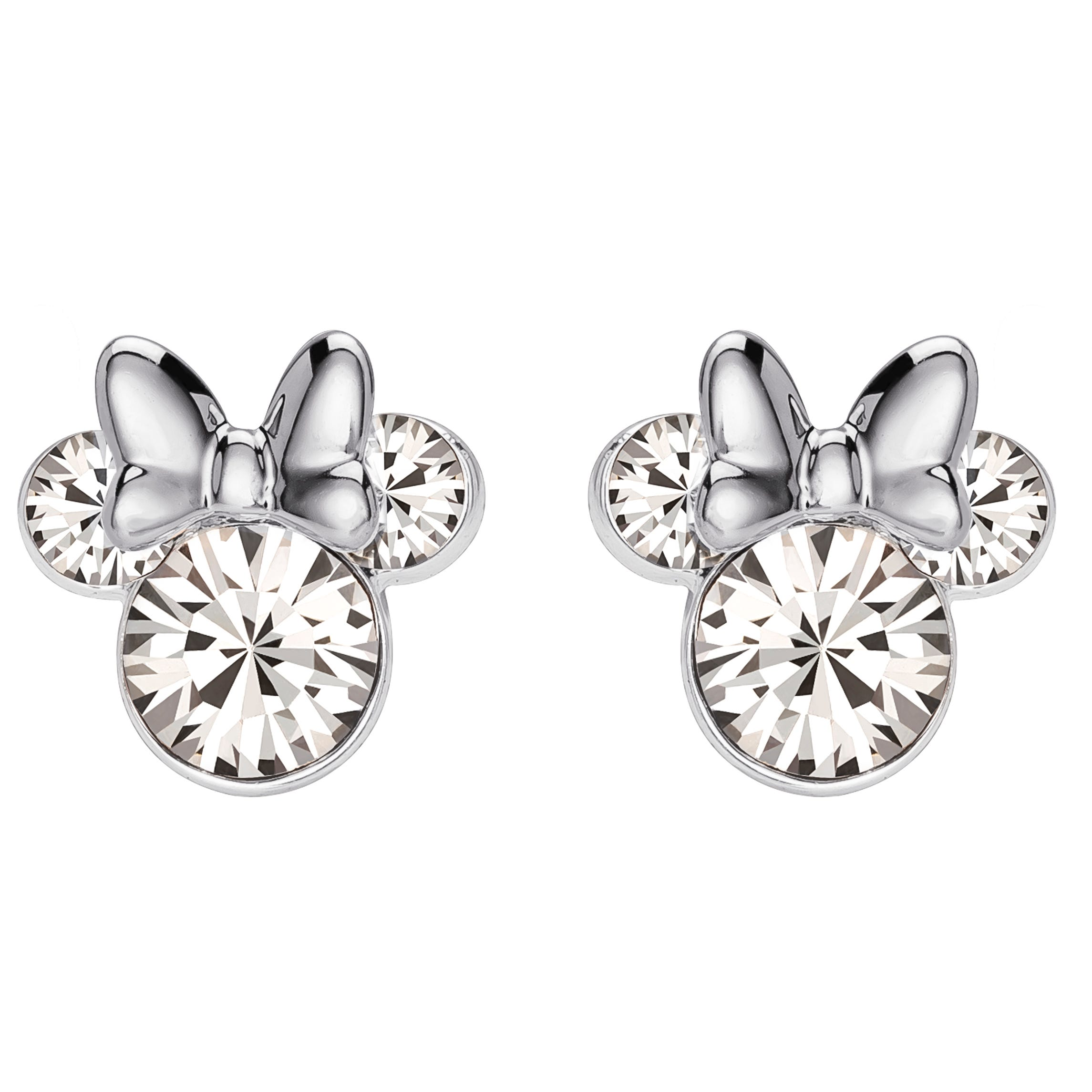 DISNEY© Minnie Mouse Crystal Stud Earrings in Sterling Silver