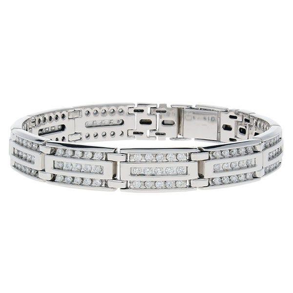 Diamond 3 Row 4ctw. Bracelet in 10k Yellow Gold