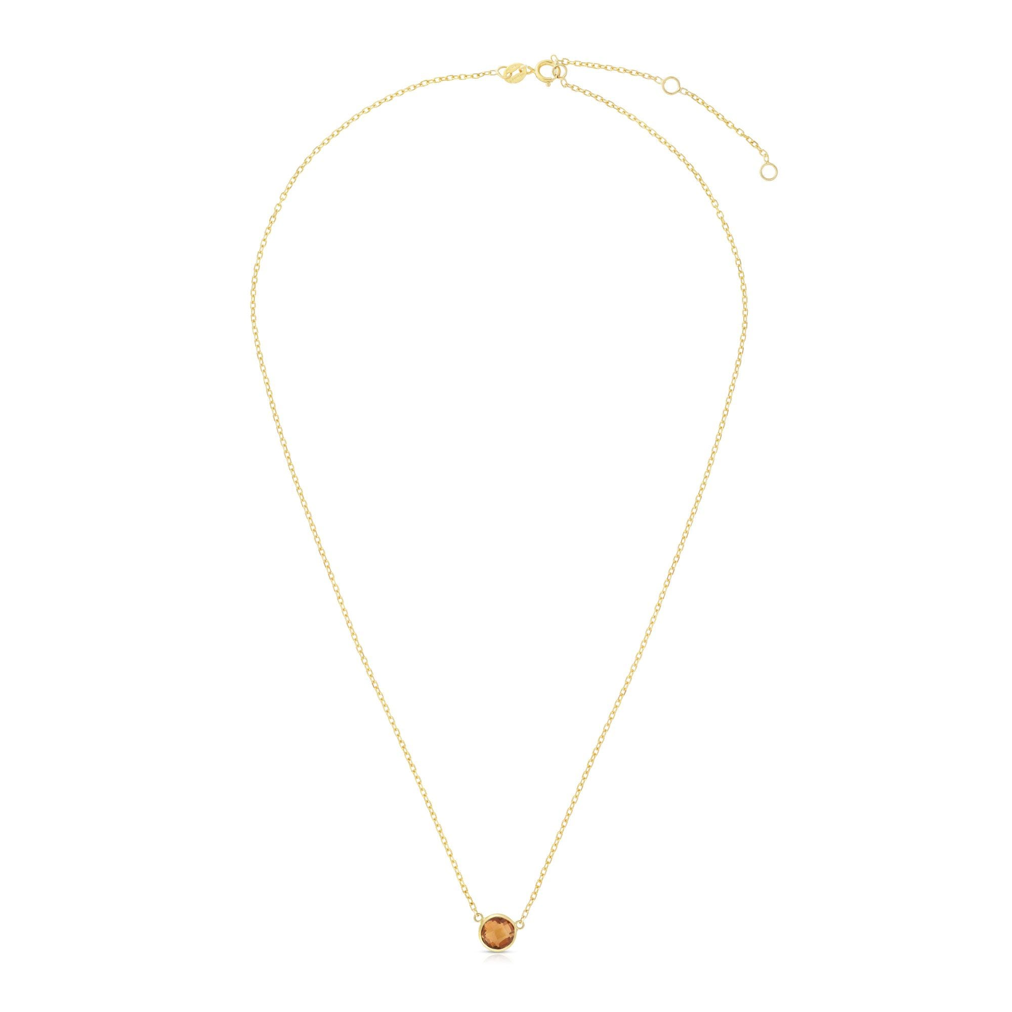 Citrine Round Necklace 17