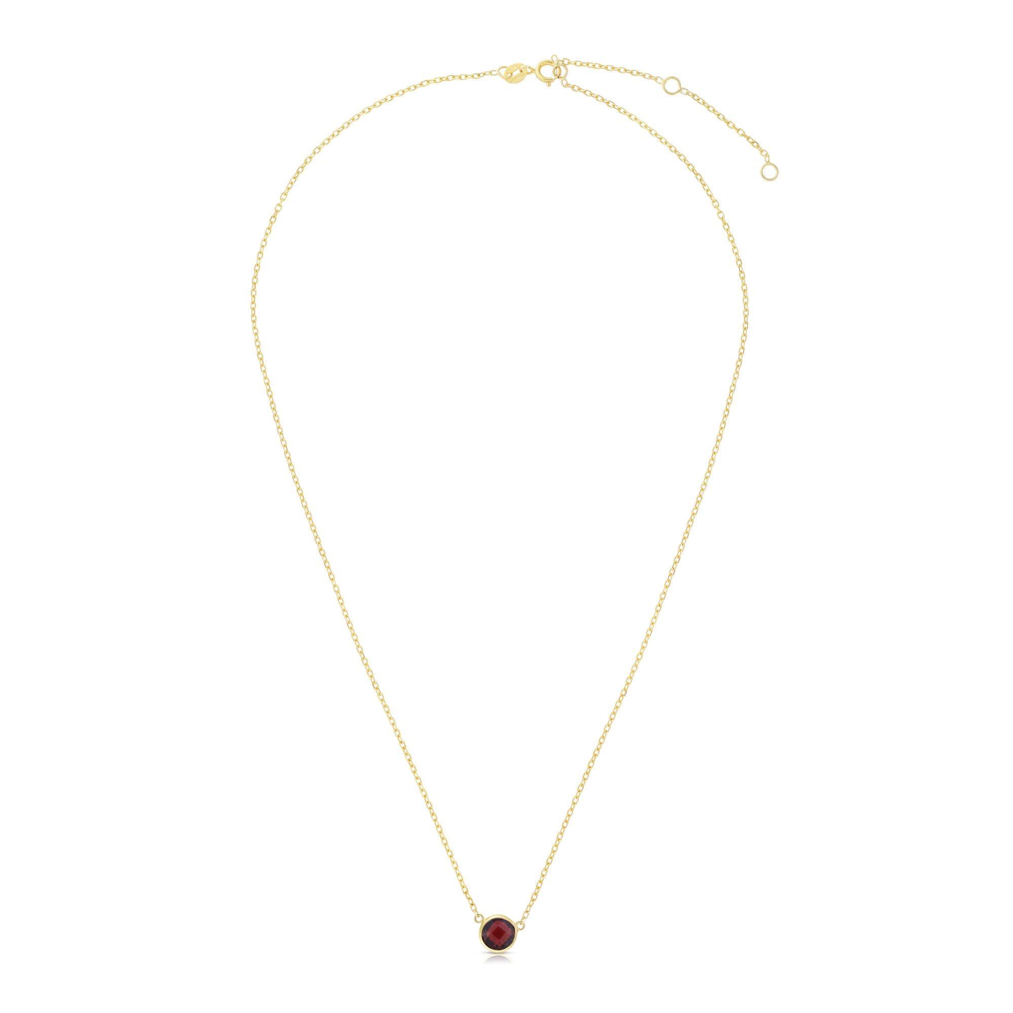 Garnet Round Necklace 17
