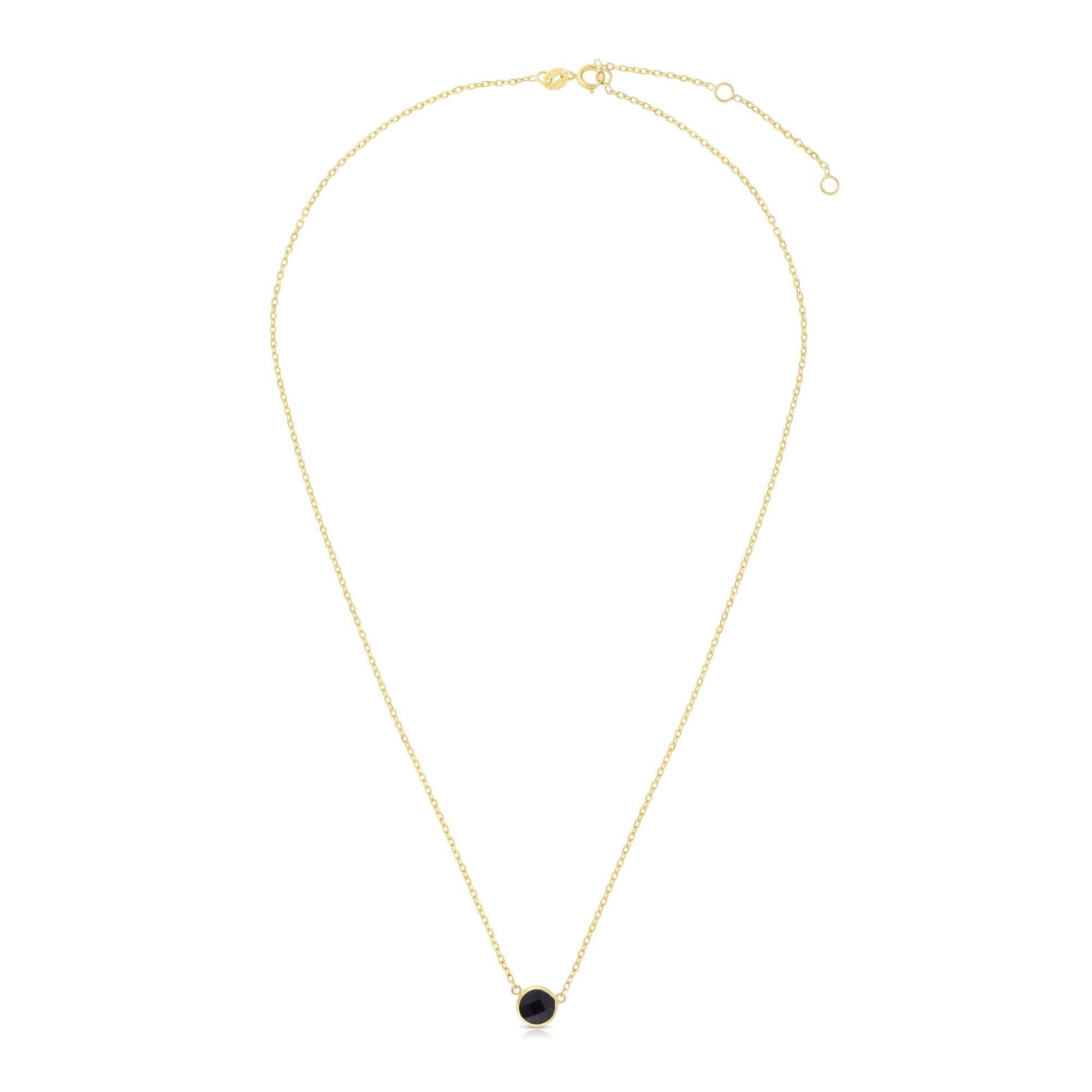 Black Onyx Round Necklace 17