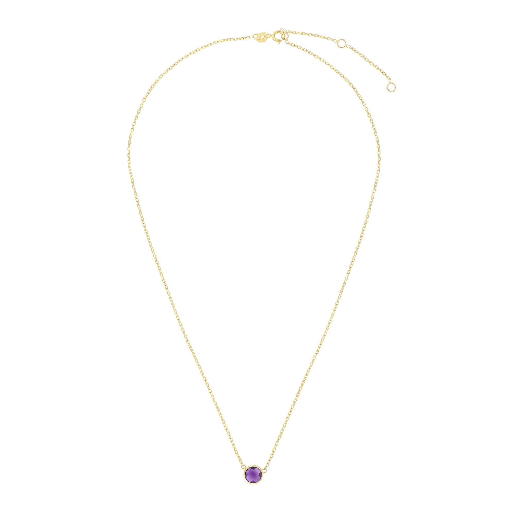 Amethyst Round Necklace 17