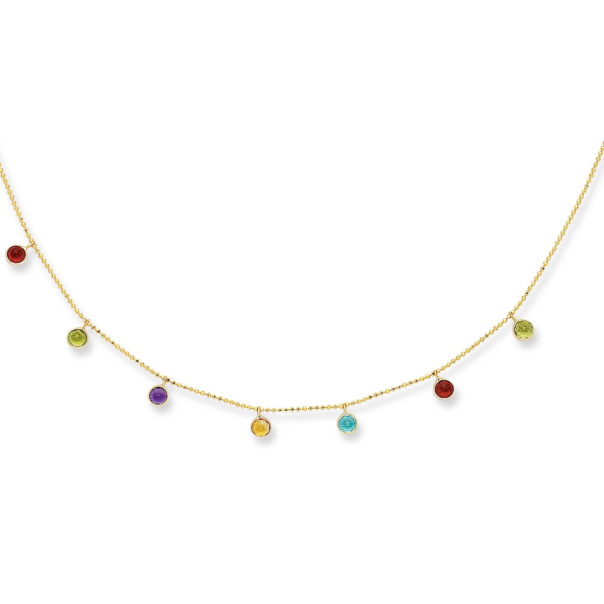 Multi-Gemstone Necklace 18
