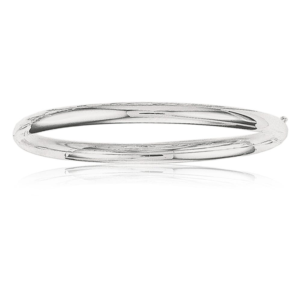 Classic Bangle 5mm in 14k White Gold