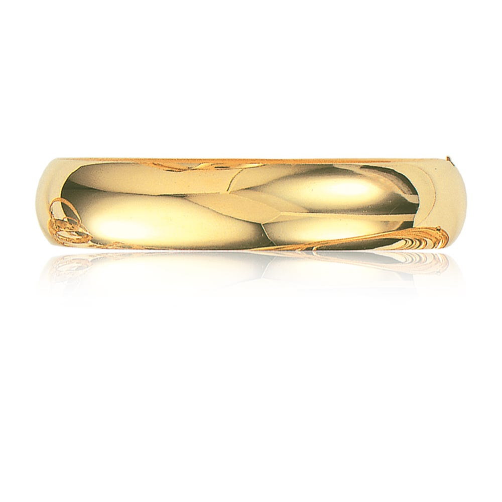 Classic Bangle 13.5mm in 14k Yellow Gold
