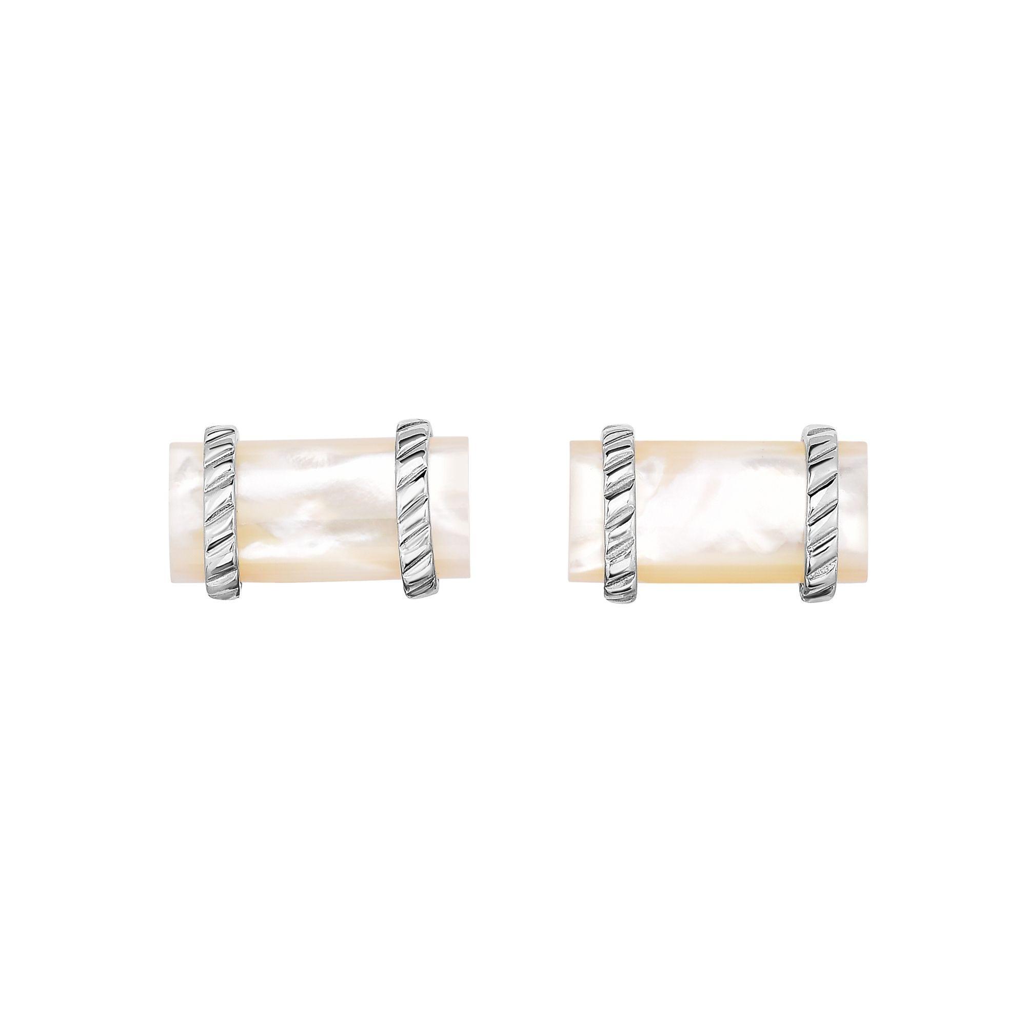 Cylinder Cufflinks 22x13mm in Sterling Silver