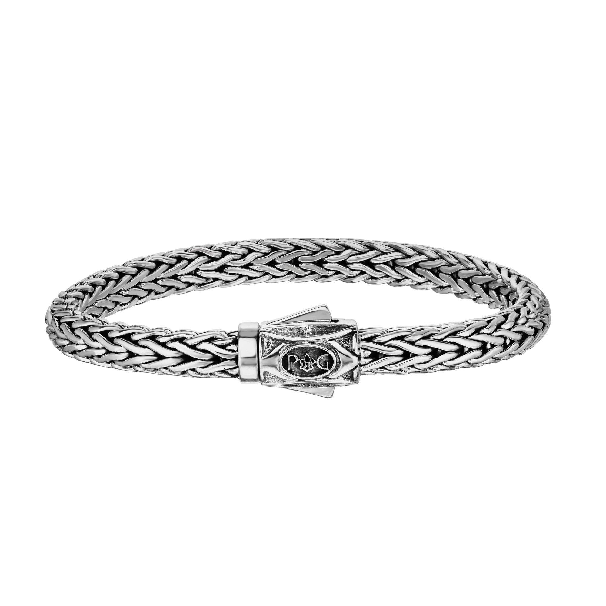 Men's Oxidized Finish Woven Bracelet 7