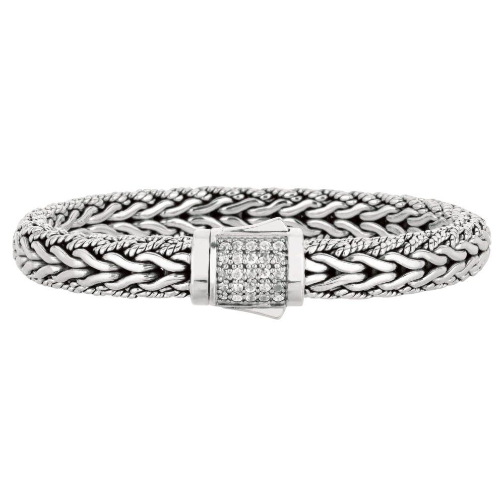 White Sapphire Cluster Bracelet 7.5
