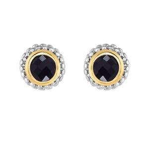 153d3db22 Black Onyx Double Halo Earrings in Sterling Silver