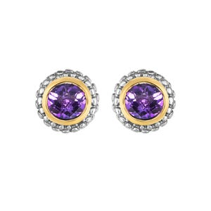 914ca1061 Amethyst Double Halo Earrings in Sterling Silver