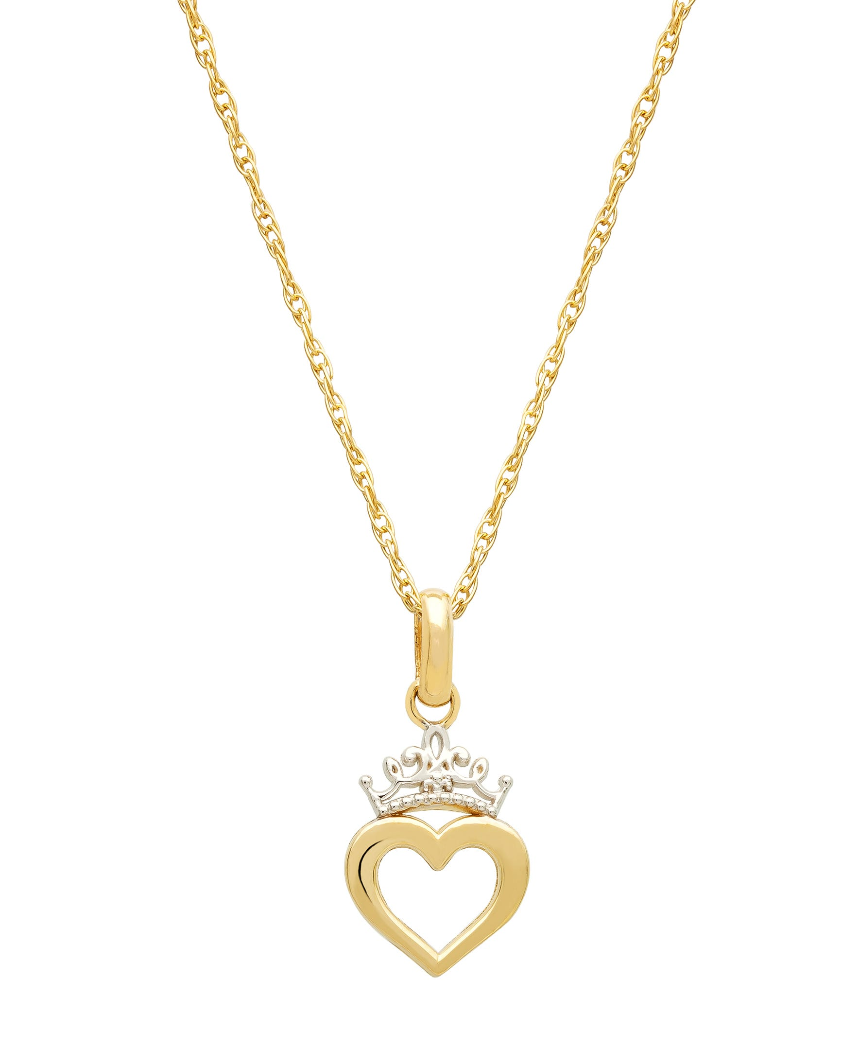 DISNEY© Princess Heart Pendant in 10k Yellow Gold