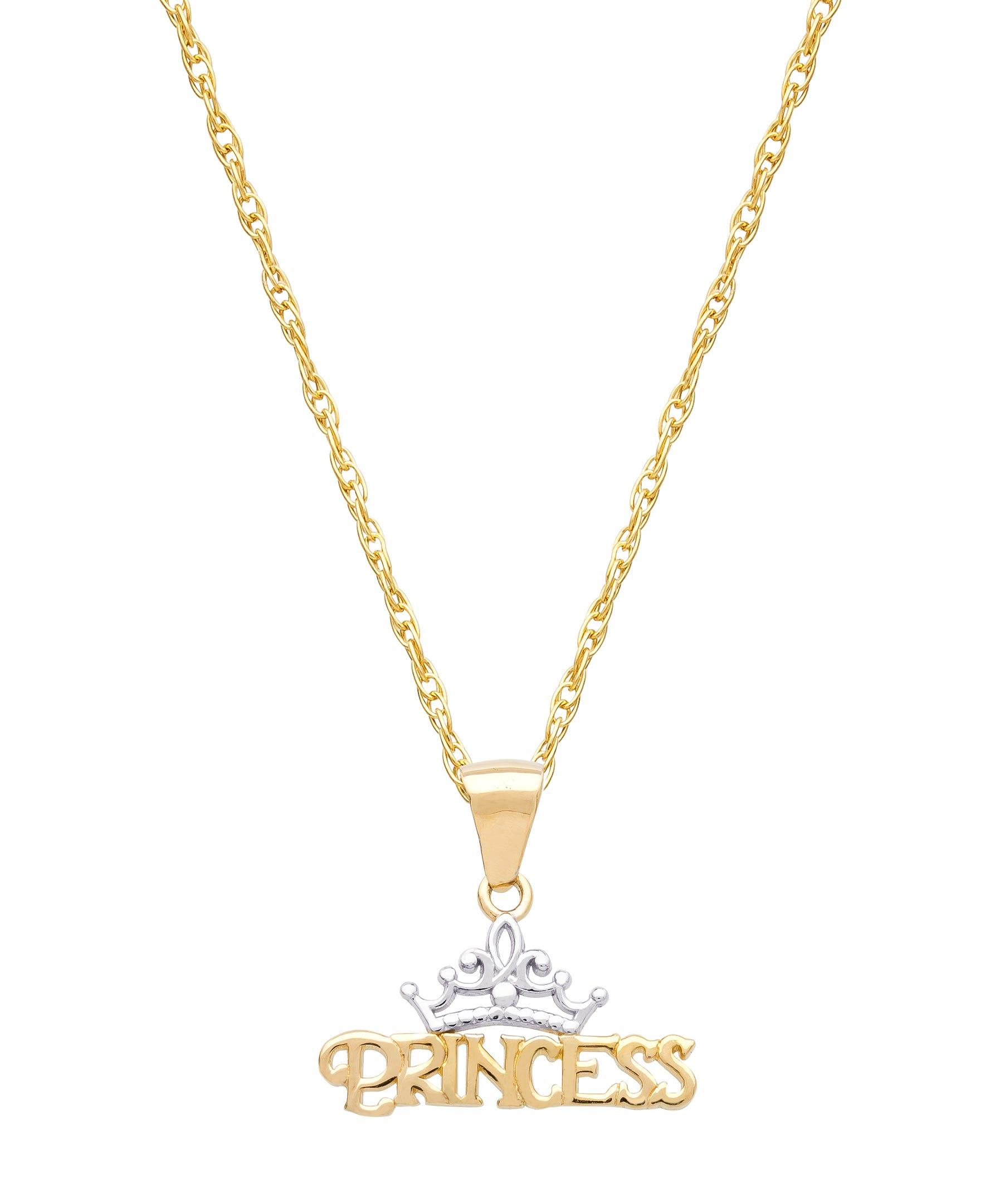 DISNEY© Princess Pendant in 10k Yellow Gold