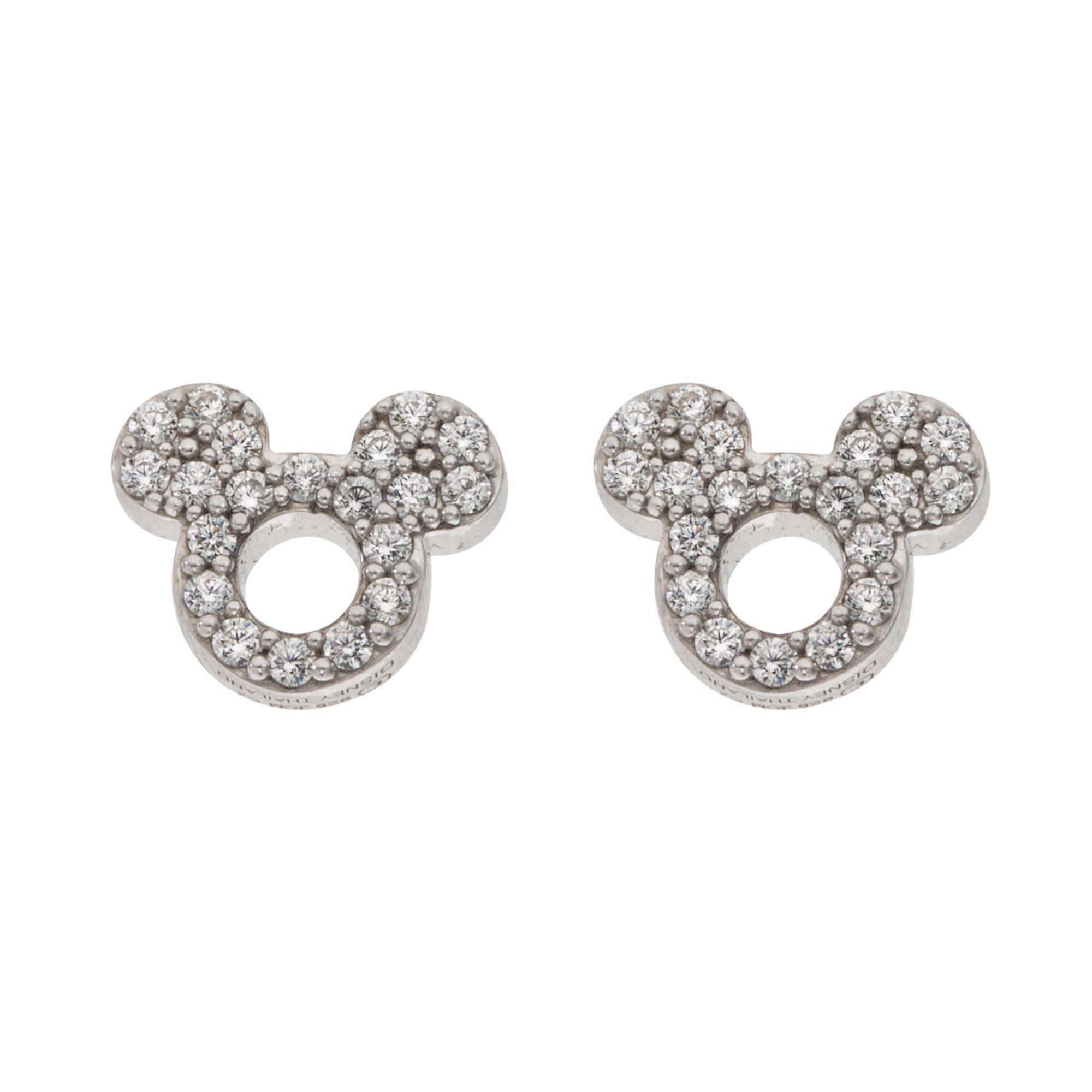 DISNEY© Mickey Mouse CZ Earrings in Sterling Silver