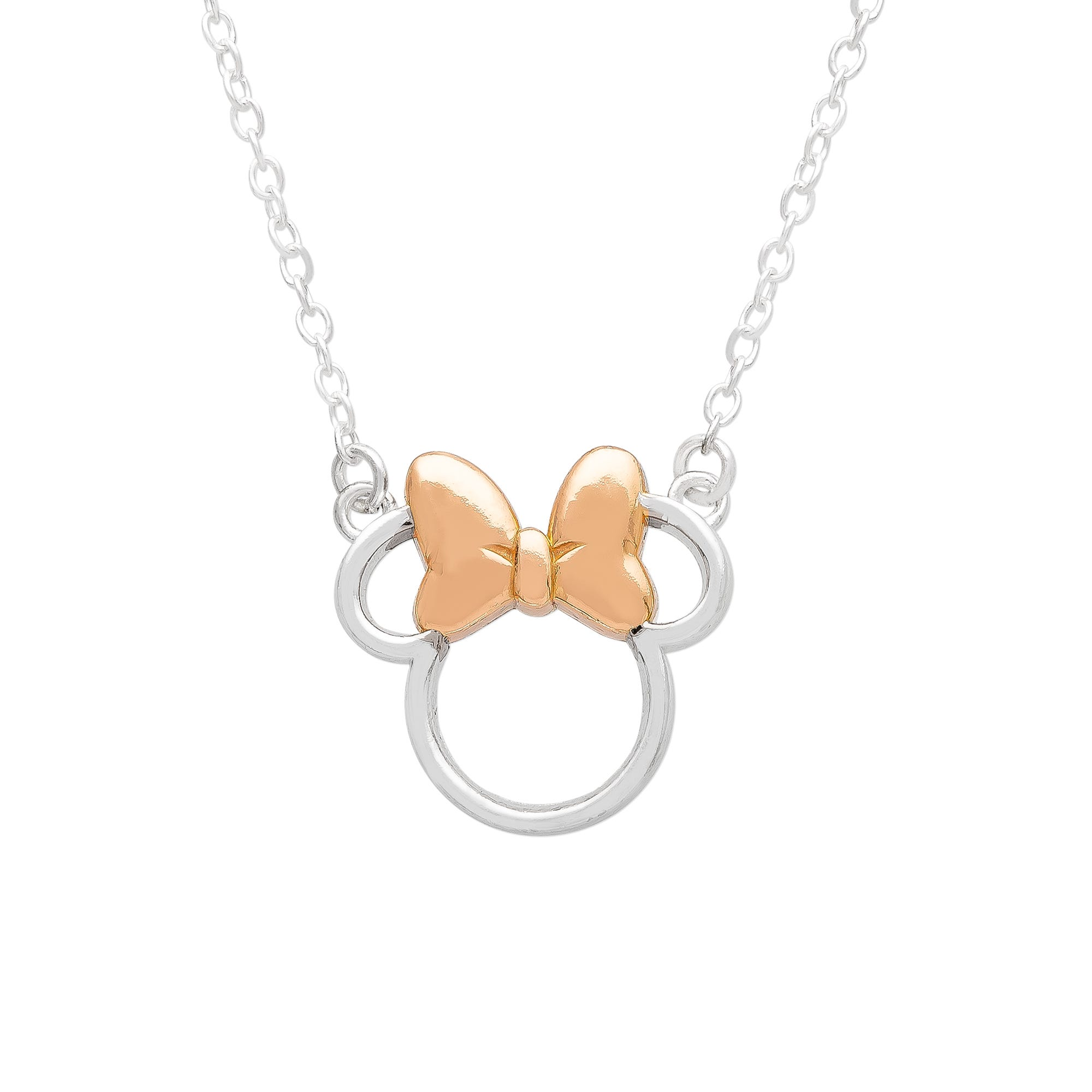 DISNEY© Minnie Mouse Necklace in Sterling Silver & Rose Gold Plated