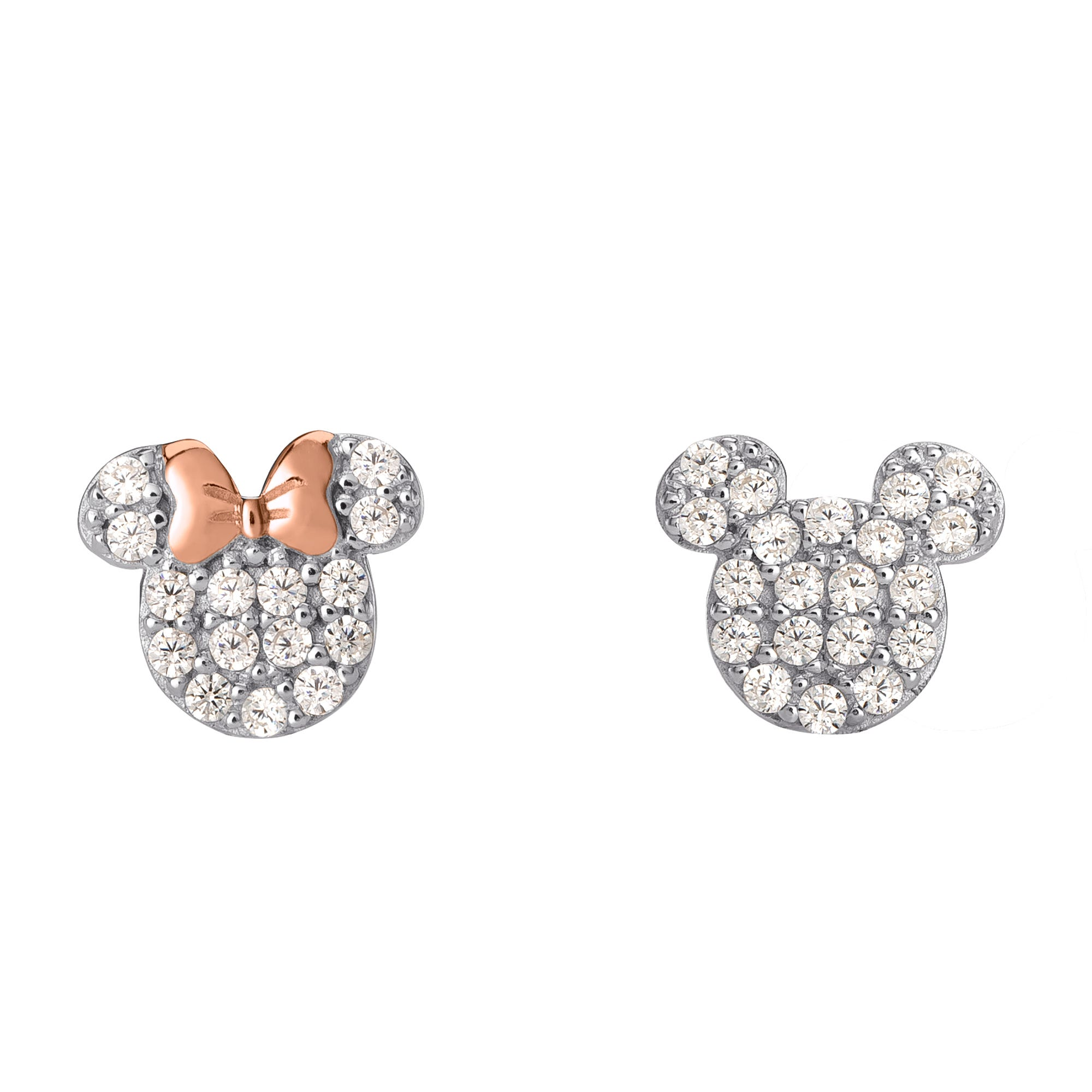 DISNEY© Mickey & Minnie CZ Stud Earrings