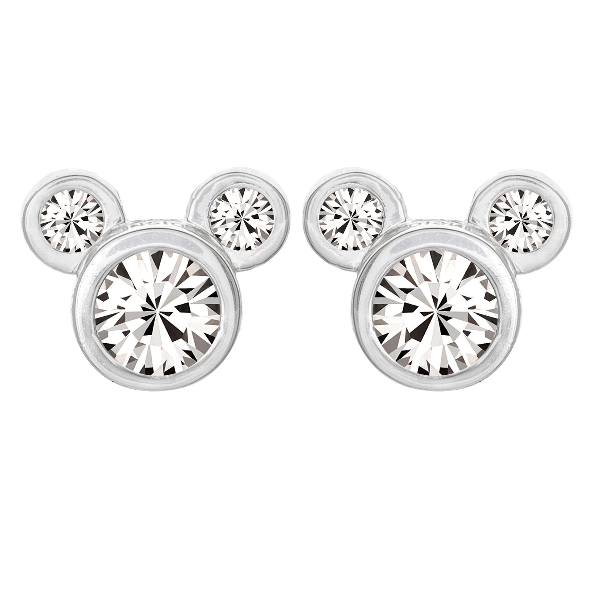 DISNEY© Mickey Mouse CZ Stud Earrings in Sterling Silver