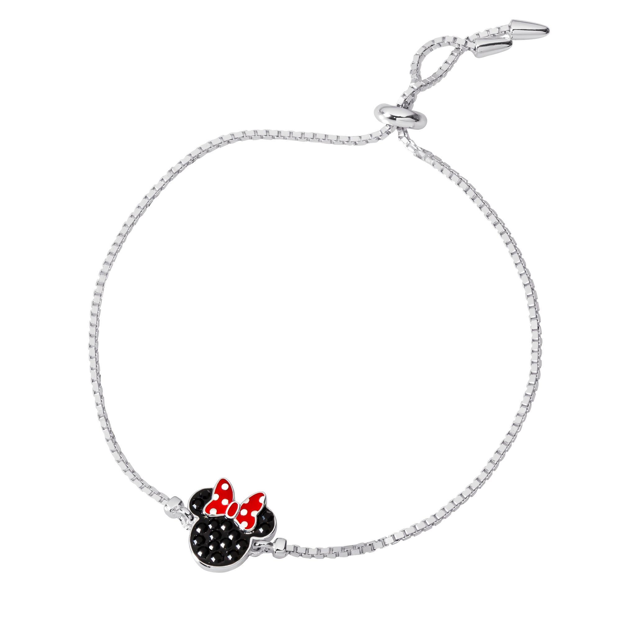 DISNEY© Minnie Mouse Bolo Bracelet in Sterling Silver