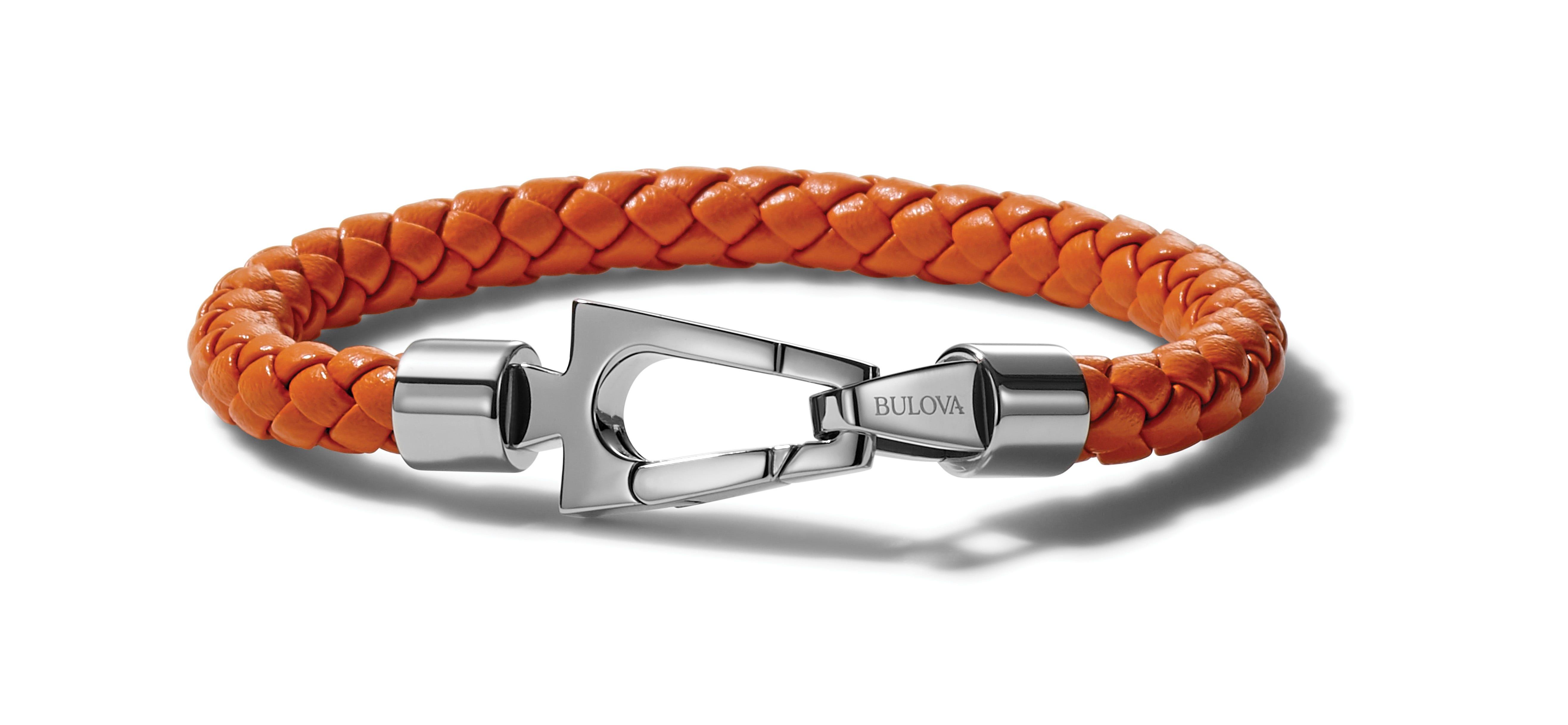 Bulova Marine Star Leather Bracelet J96B027L